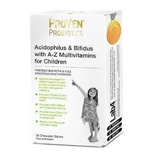 Probióticos crianças + vitaminas, em pastilhas