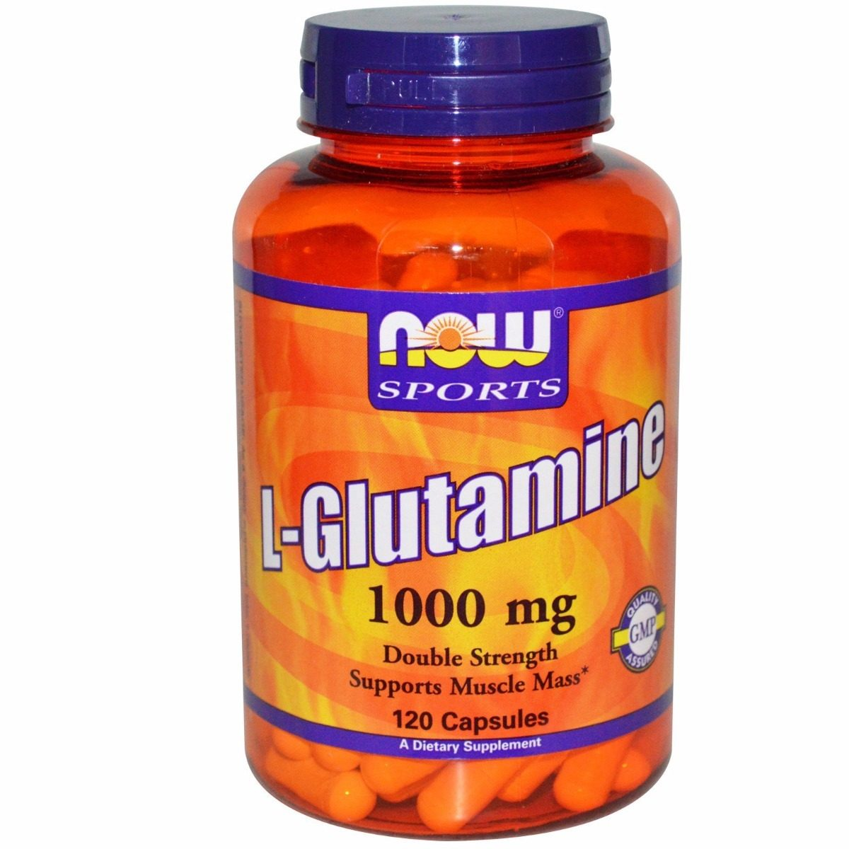 L-Glutamina 1000mg, 120 cápsulas, Now