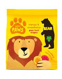Gomas manga-morango, sem açúcar, Bear paws