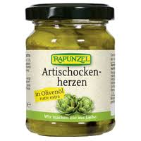 Alcachofra Biológica em azeite, 120g, Rapunzel