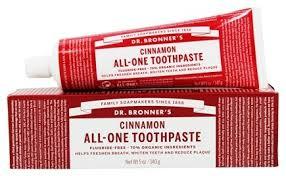 Pasta de dentes de canela, biológica, Dr.Brownner's