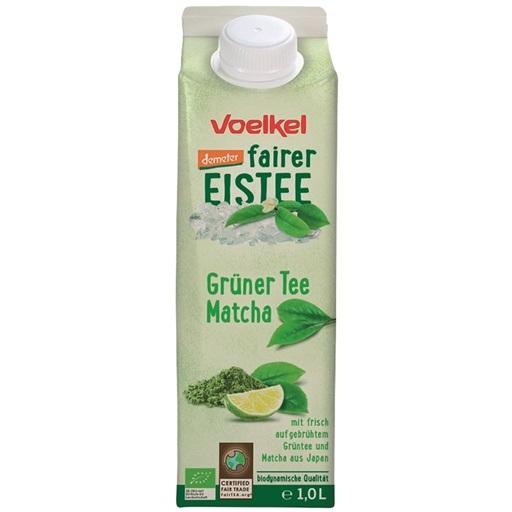 Ice tea matcha, chá verde, fruta, bio, 1L, Voelkel