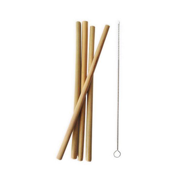 Palhinhas em bambu, ecológicas, 4unidades