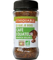 café biológico instantâneo, 85g, ethiquable
