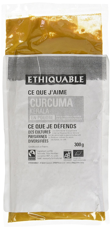 curcuma pó, biológica, Fairtrade, 300g, Ethiquable