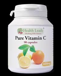 Vitamina C 600mg, 90 cápsulas, Health Leads