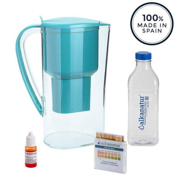jarro com filtro de agua alcalina alkanatur