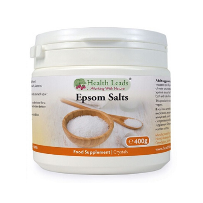 Sais de epsom composto por sulfato de magnésio para musculos, articulações e detox hepatico