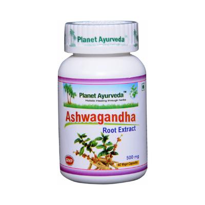 Cápsulas vegetais de Ashwagandha, extratos 100%