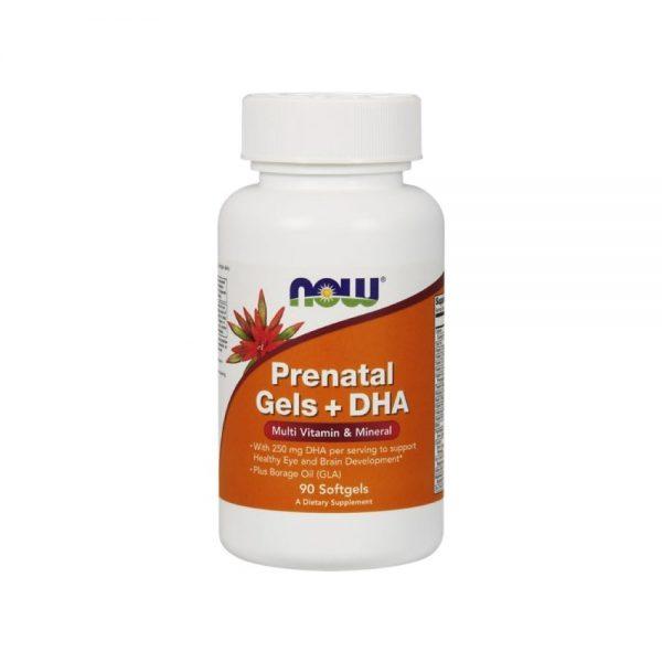 Prenatal + DHA oferece diversas vitaminas e minerais na fase de gravidez