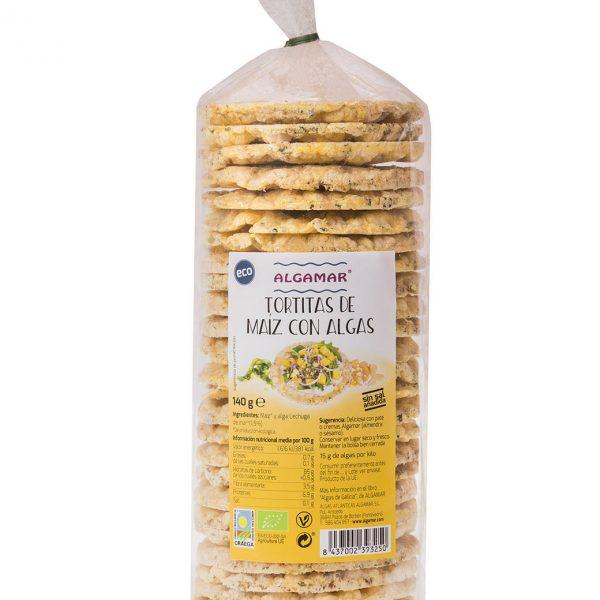 galetes milho e algas para lanches mais saudavies. Galetes sem sal